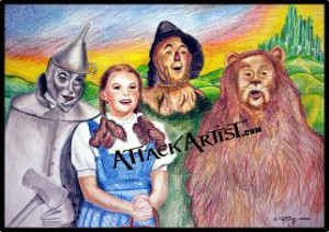Prismacolor Premier Colored Pencils were used for the wizzarsd of Oz