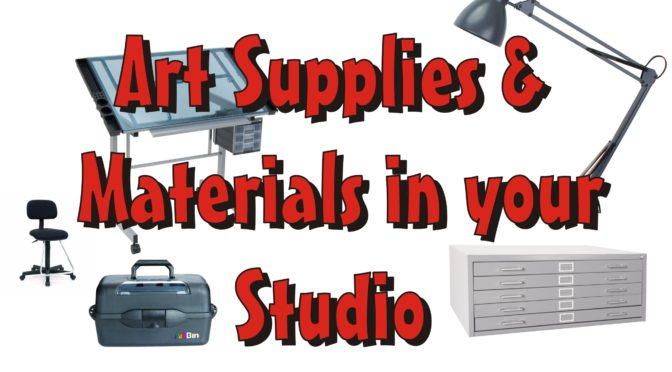 Art Supplies and Materials in your Studio